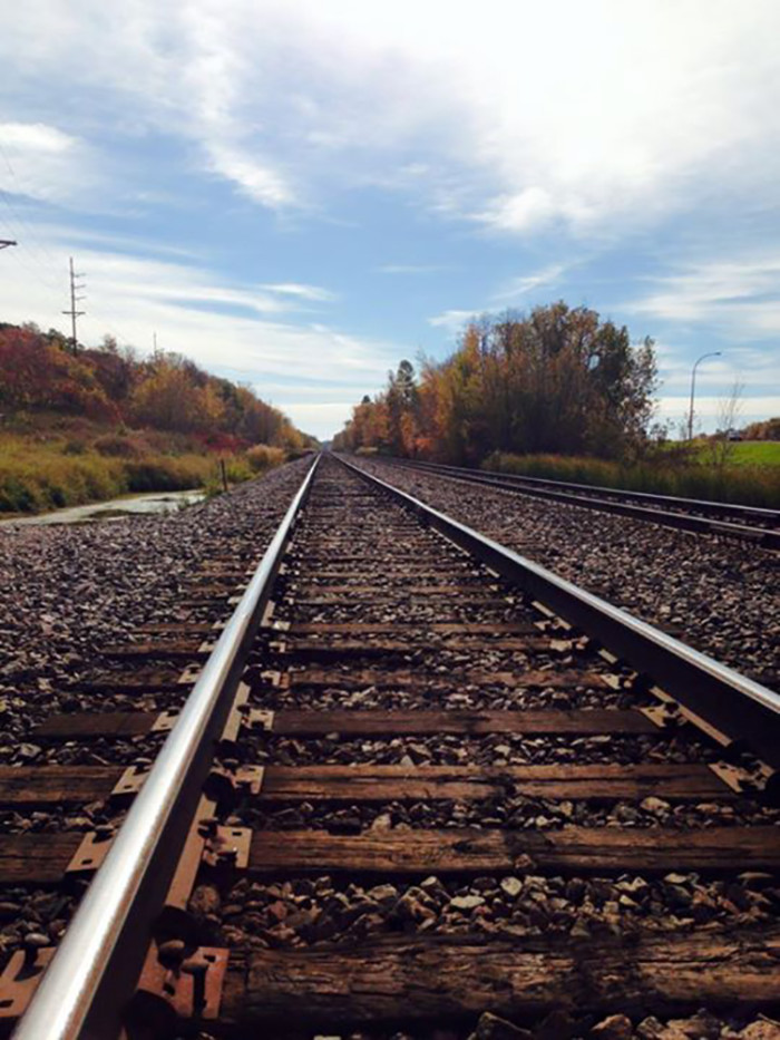 5. Ericka Lynn framed this railroad shot with MN's fall colors in Detroit Lakes.