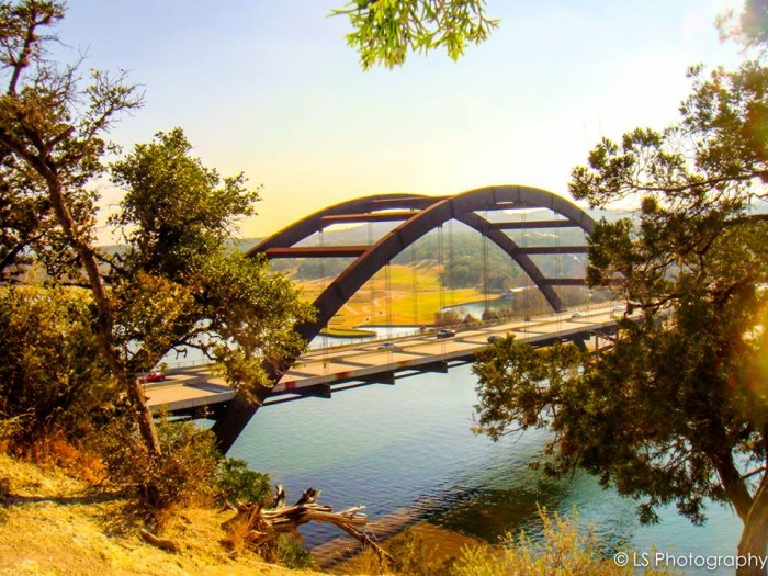 7) A wonderful shot of the beloved Pennybacker Bridge in Austin, Texas taken by Amy MacDonald!