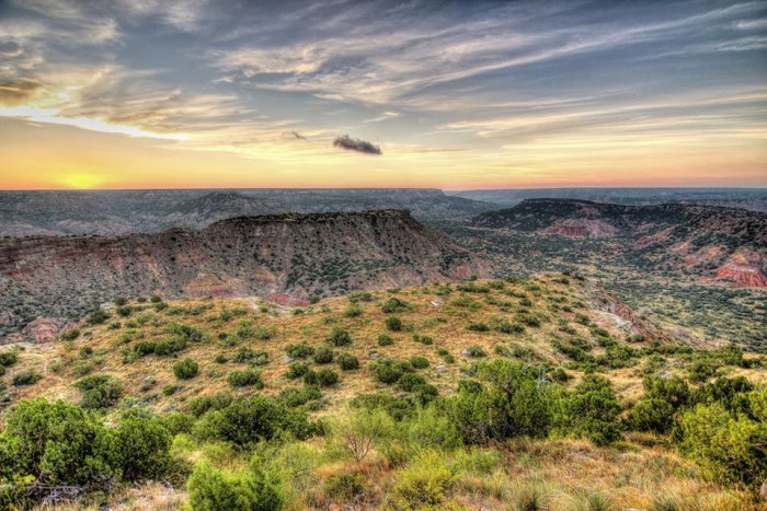 14) Jim Hundley captures this incredible sunrise over Palo Duro Canyon. What a view!