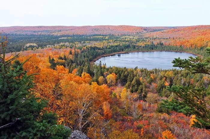 7. Sekhar Manne hiked Ober Mountain Loop and The Superior Hiking Trail and walked away with this awe-inspiring photo.