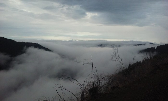 3) Fog rolls over the hills in this image by Matthew Bacon.