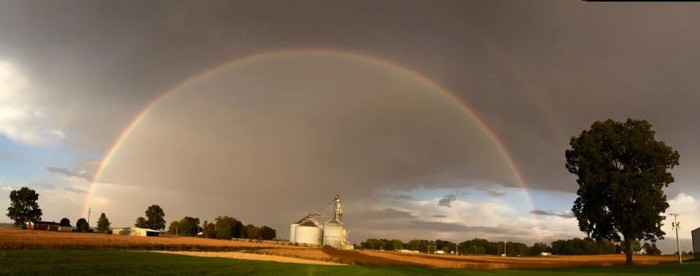 20. I always try to find a way to end these on an explosive note. LeAnn Schmitt shared a picture of a double rainbow in Southern Indiana. Incredible!