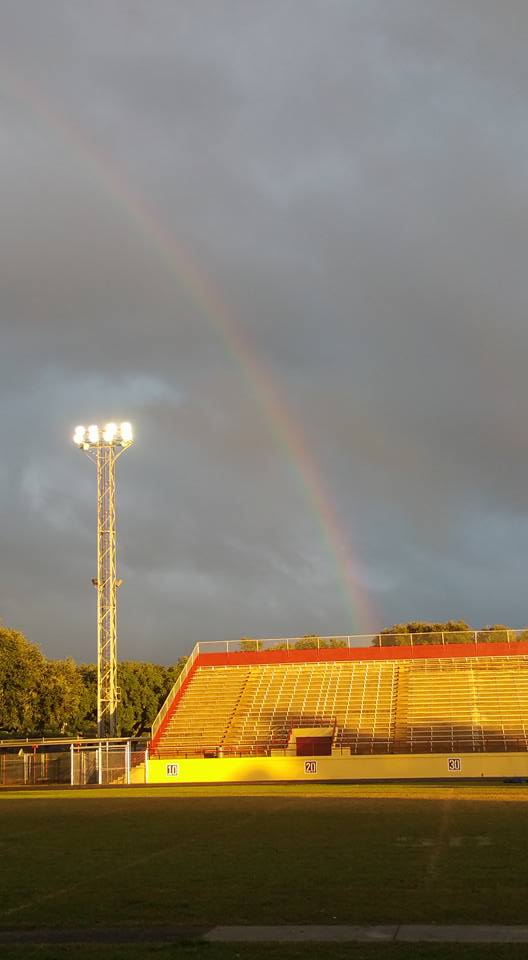 6) Rainbow over Terrebonne High Stadium in Houma, La by Angela Landry Comeaux