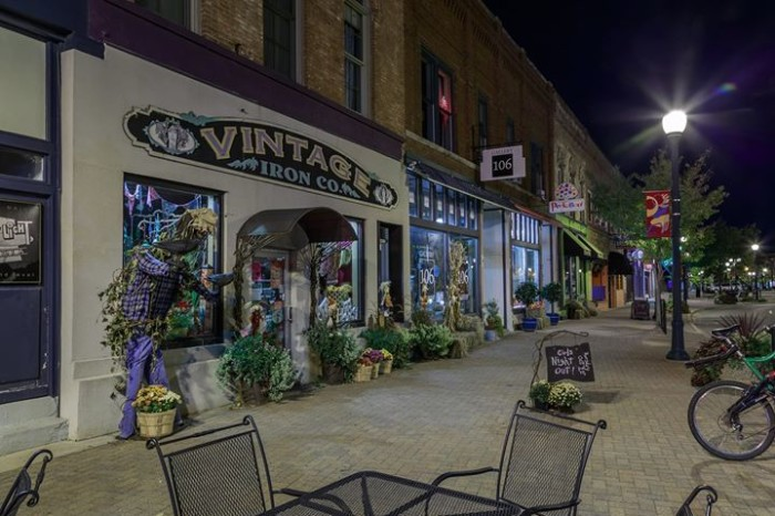 13. Patrick Trepp snapped this photo of a charming Cedar Falls streetscape at night.