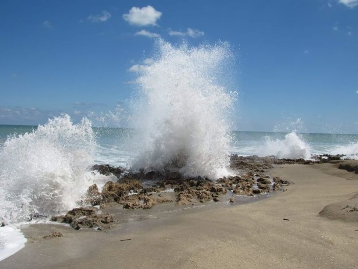 12. We just had to share this second shot by Beverly Reaume of the crashing waves at the House of Refuge in Stuart.