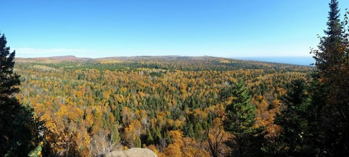 3. Tj Plaza found a peaceful place to take in the MN views in Cascade State Park.