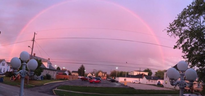 13. Rhonna Roberts shared a picture of a rainbow with us that was spotted in Bedford! How pretty!