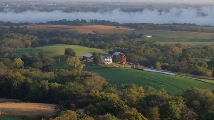 13. Susie Williams shared this splendid view of a farm near Balltown.