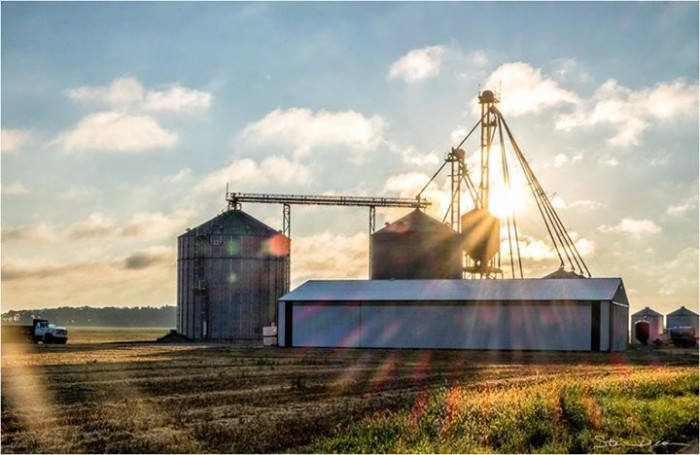 20. Steven Deam submitted a picture of a sunrise over a farm located in Whitley County, Indiana. Beautiful picture!