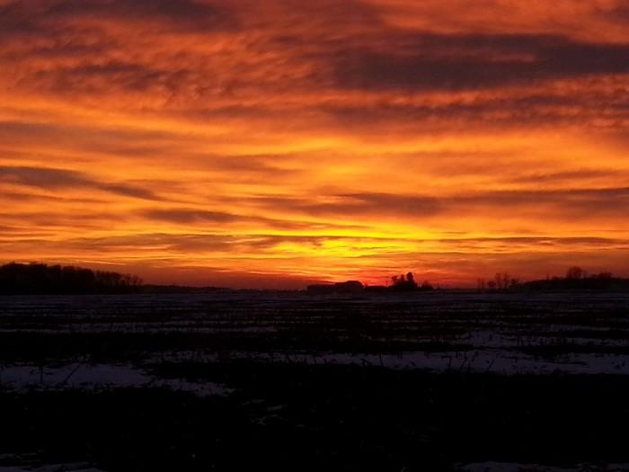 13. Sunset near Bradner, OH