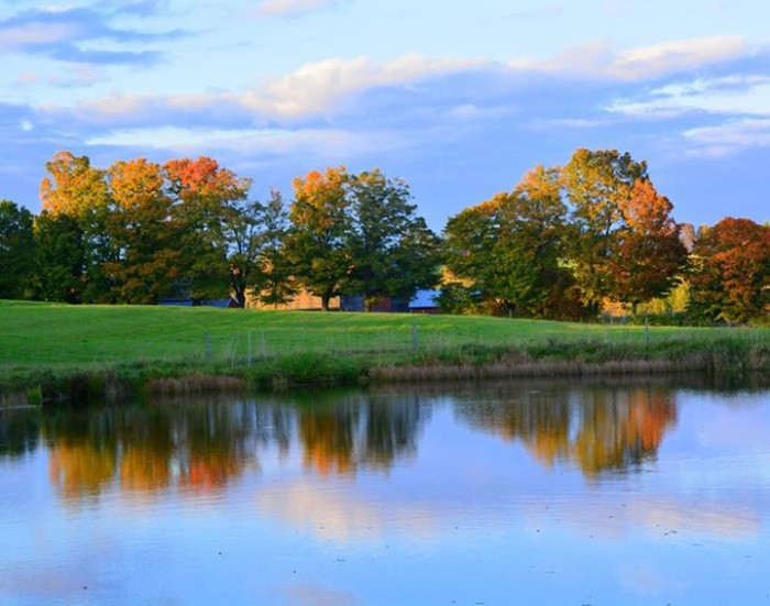 14) A calm fall evening in Brownington, by Rick Desrochers.