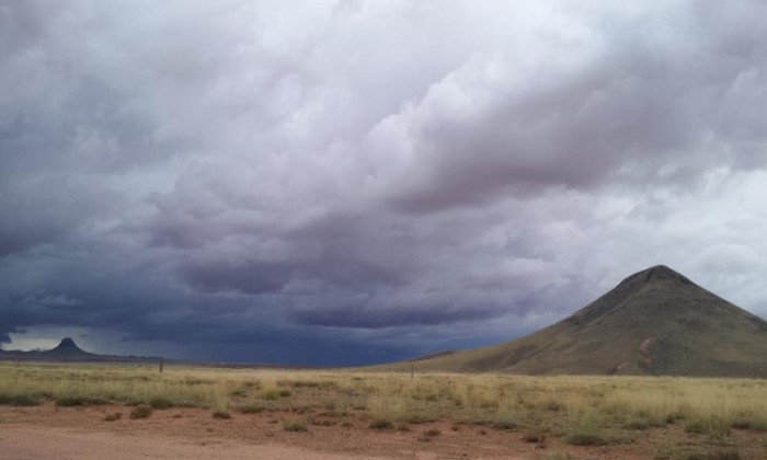 10. And Lesia in Dilkon sent us this photo of some ominous-looking clouds from one of the storms this week. She was also within the same area as the tornado warning near Winslow this week, yikes!
