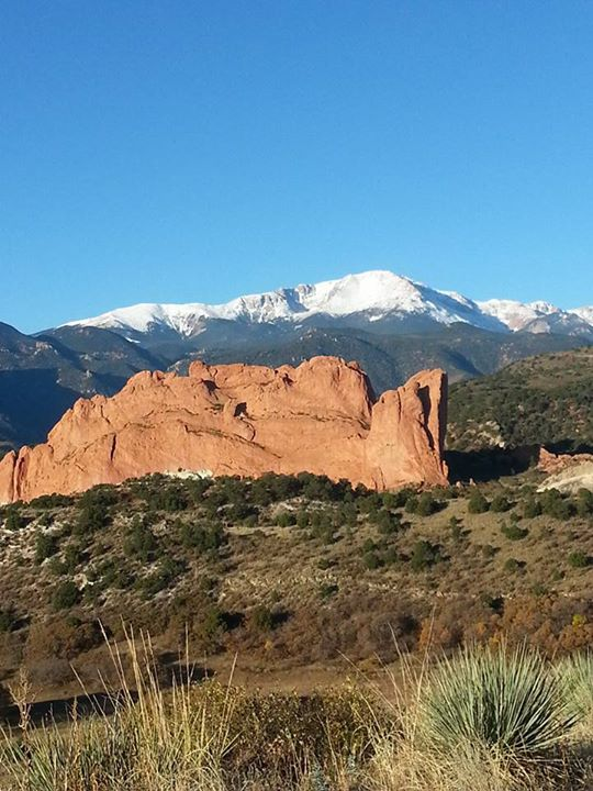 6. Glorious Garden of the Gods and Pikes Peak.