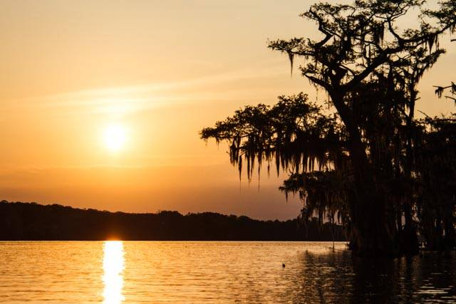 10) Lake Palourde in Morgan City at sunset. By Bonnie Campbell Marquette.