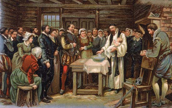 2. The first English child born on American soil...