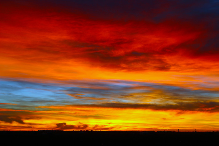 9) This is an absolutely mesmerizing capture of a West Texas winter sunrise...wow.