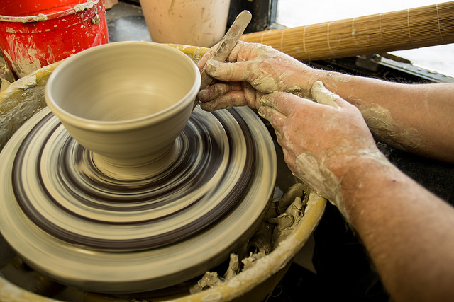 4. Learn pottery from the pros.