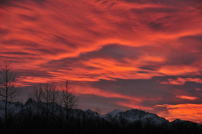 3) Sunrise over the Kenai Peninsula.