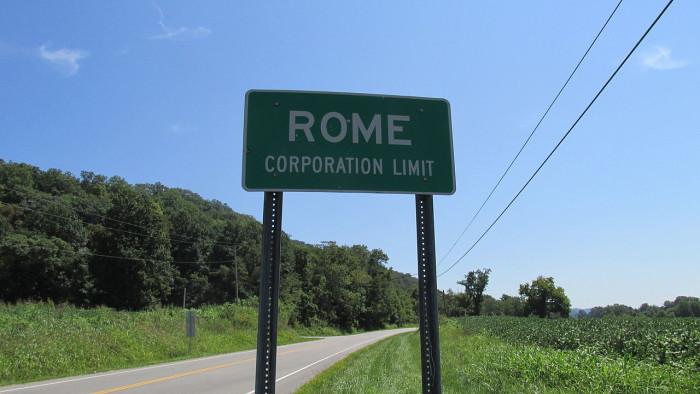 9. Rome (Population: 90)