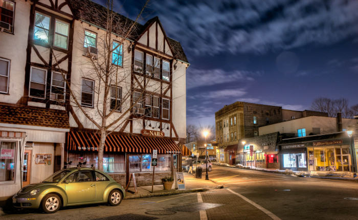 4. Trendy Medford looks lovely, and lively, at night.