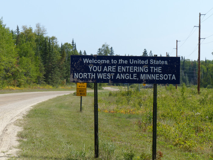 10. Minnesota's Northwest Angle, although not connected to MN by land, is the northernmost point in the contiguous 48 states and became so due to a surveying error.