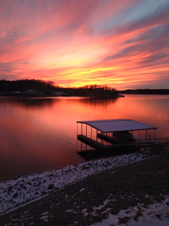 14. Another amazing sunset capture by Nancy Wallace features Linn Creek.