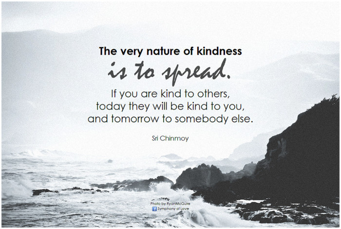 5. A little kindness goes a long way.