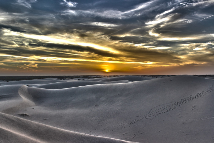 4) Wow! What an incredible sunset over Monahans Sandhills State Park!