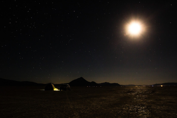 10. A calming view of the starry sky overlooking the Black Rock Desert.