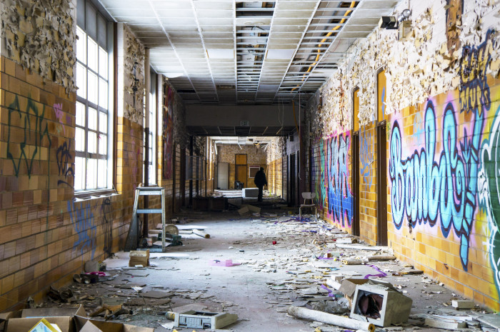 These abandoned indiana schools will creep you out - The house in the abandoned school ...