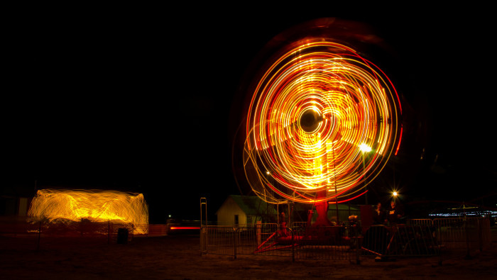 3. Late night fun at the Greeley County Fair