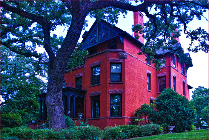 1. This photo of a house on Summit Avenue in St. Paul looks hauntingly beautiful, especially with that tree!