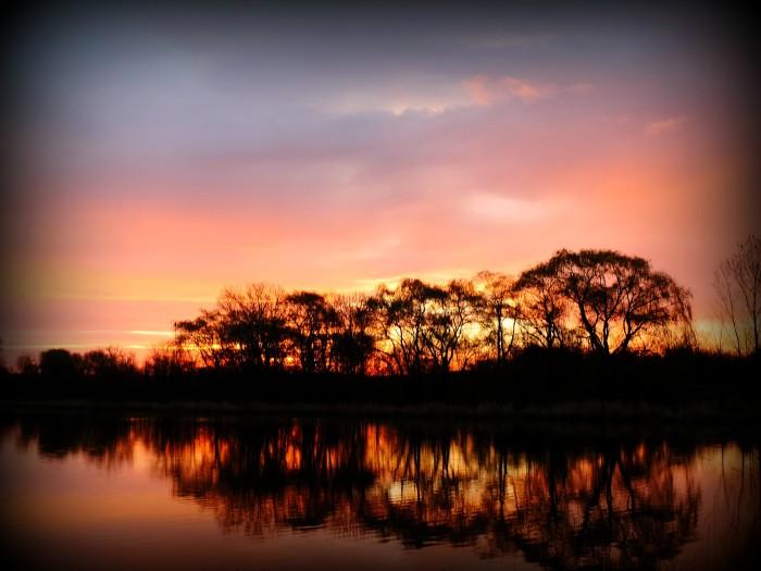 12. Romaine Wells took this amazing photo of the sun rising near Charles City.
