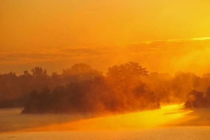 15. Sunrise on the Mississippi, by Jim Campbell.