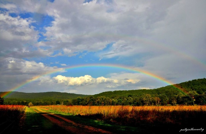 15.  Bright and beautiful double rainbow taken by Patty Wheatley Bishop.