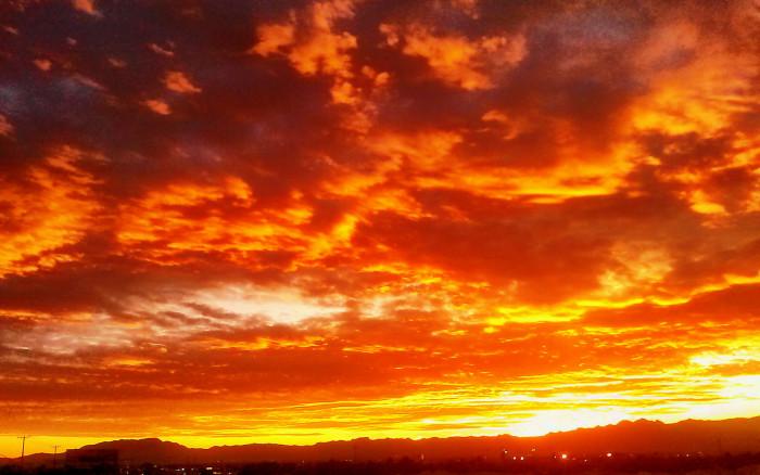 1. Such a powerful Las Vegas sunset.