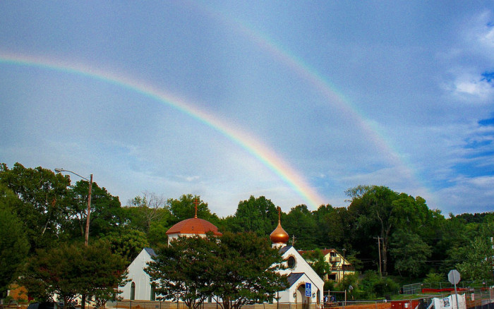 2. This double rainbow was caputured in the Lakeview area of Birmingham, behind St. Symeon Orthodox Church. Double rainbows are the coolest things EVER!!!