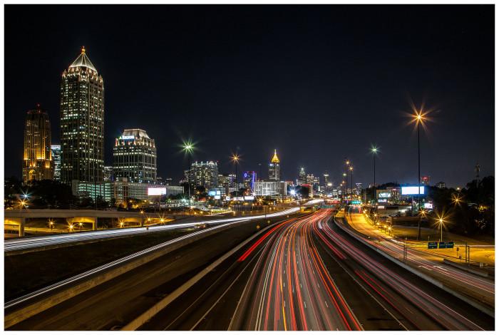 3. Racing towards downtown Atlanta
