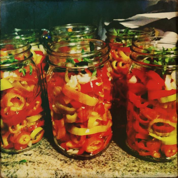12. Hot pickled pepper vinegar over collard and mustard greens