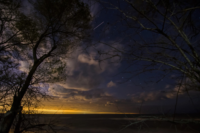 11. Here's a nice night time picture over Lake Michigan. The clouds and stars are beautiful.