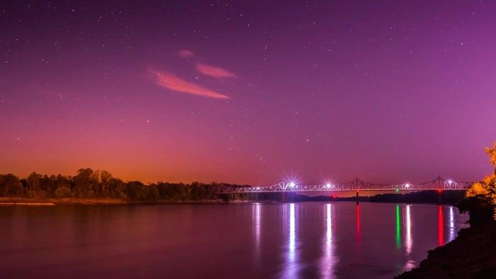 16. Ken Trudeau got this great shot of the stars at the Washington riverfront.