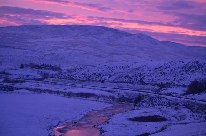 5) The last glimpse of sunset.