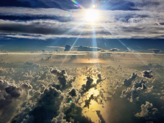 4. This view from above the clouds in Sarasota
