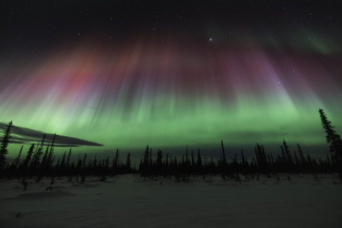 9) The aurora showing off early in the morning darkness.