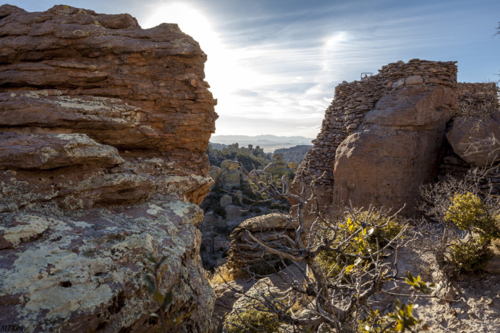 13. The way the sun hits the sides of the rocks here makes for a magical moment at Chiricahua National Monument.