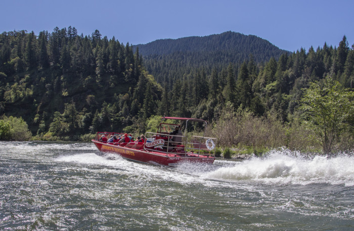 2) Take a jet boat trip on the Rogue River.