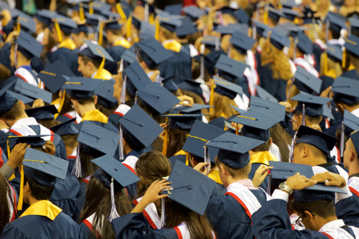 5) With a 67.8% graduation rate in 2013, Oregon ranked #49 in high school graduations.