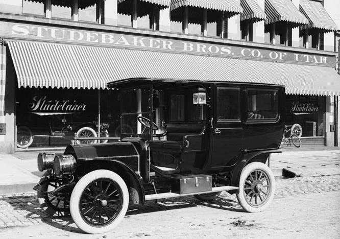4. This is the 1908 version of a Utah minivan.