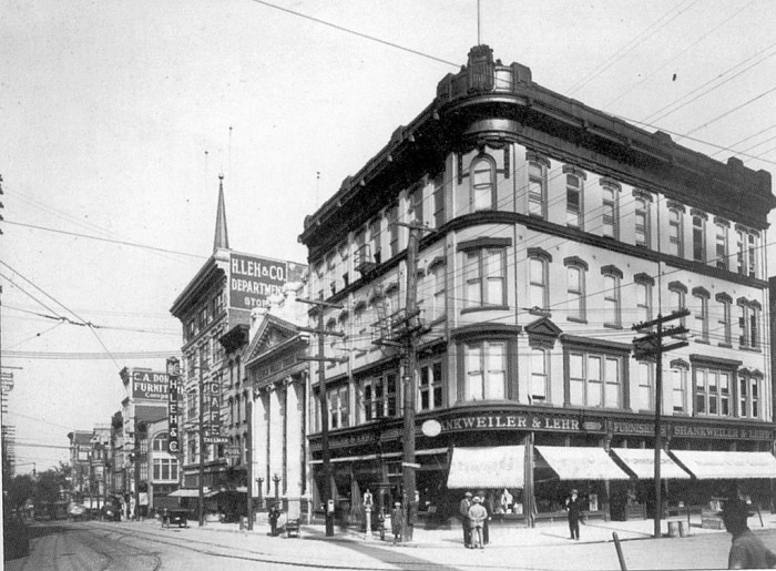 Allentown used to be a shopping destination for more than just Hess. Here is the 600 block of Hamilton Street as it stood in 1917. Shankweiler and Lehr department stores became big names in the upcoming years.