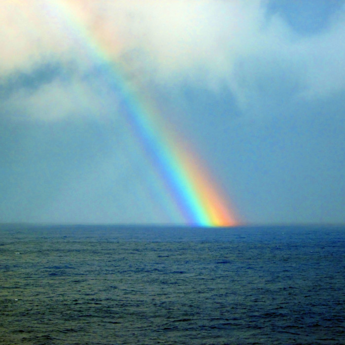 10) The end of the rainbow fading into the water somewhere in Dallas, TX.